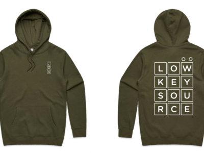 Low Key Source logo Stencil Army hoodie main photo