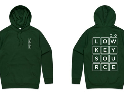 Low Key Source logo Green hoodie main photo