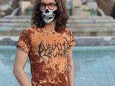 Heavy Metal Logo T-Shirt (Tiger Pattern / Bleached Black on Black!) photo