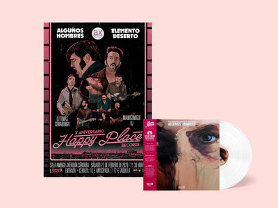 """OFERTA PACK LP Limited Edition 12"""" white vinyl + POSTER ANIVERSARIO HAPPY PLACE main photo"""