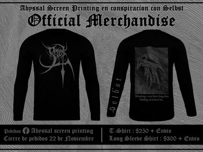 Selbst - Witnessing a ruin future beign born watching all desires die - Longsleeve main photo