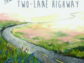 Original framed watercolor cover for Two-Lane Highway album photo