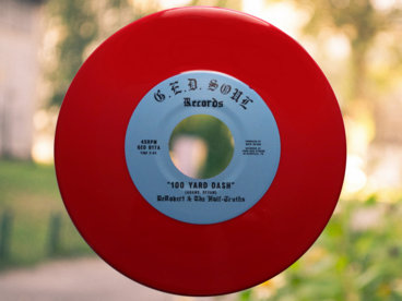 """""""100 Yard Dash"""" b/w """"It's All the Time"""" 7"""" Vinyl [RED] main photo"""