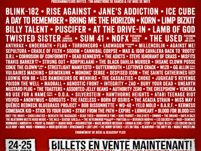 Rockfest 2016 - Affiche originale / Poster Original Print *RARE main photo