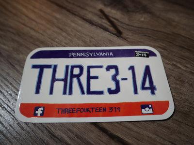 Three Fourteen Sticker (License Plate Design) main photo