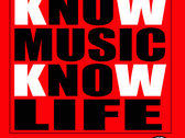 Know Music Know Life T Shirt (RED) photo
