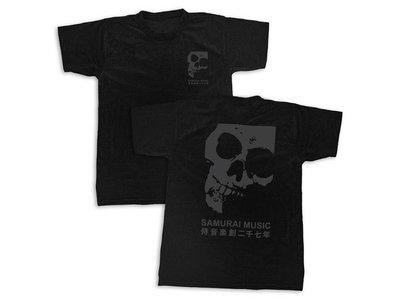 Samurai Music - Double Skull T-Shirt - Black on Black (Ltd Edition) main photo