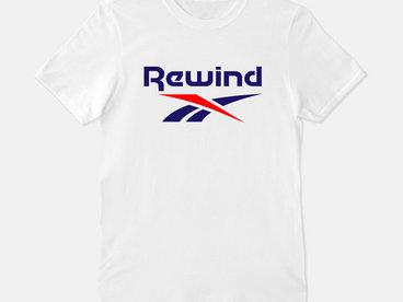 Rewind Logo T-shirt - White main photo