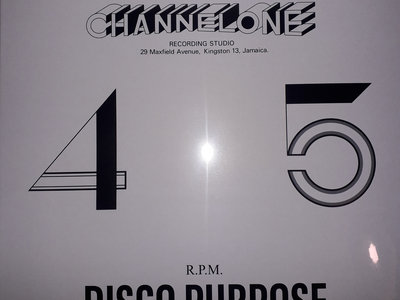 "NEW IN - CHANNEL ONE DISCO PURPOSE 12"" (Well Charge/Archive) Black Print Sleeve main photo"