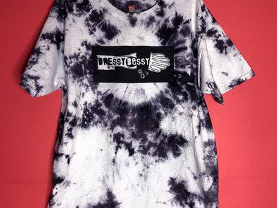 UNISEX (Mens) Black & White Tie Dye T-Shirt main photo