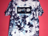 UNISEX (Mens) Black & Turquoise TIE DYE dB T-Shirt! photo