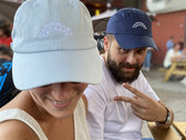 Happiness Therapy embroidered cap : navy blue photo