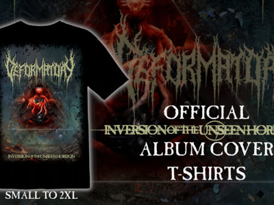 ╫ Official Inversion of the Unseen Horizon T-Shirt (Black) ╫ main photo