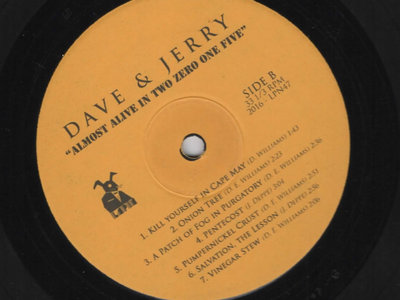 perfectly playable pressing plant seconds - DAVE AND JERRY: ALMOST ALIVE IN TWO ZERO ONE FIVE main photo