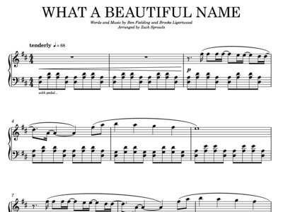 What a Beautiful Name (sheet music) main photo