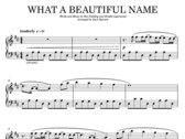 What a Beautiful Name (sheet music) photo