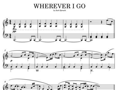 Wherever I Go (sheet music) main photo