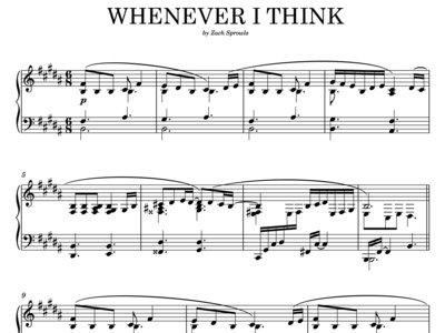 Whenever I Think (sheet music) main photo