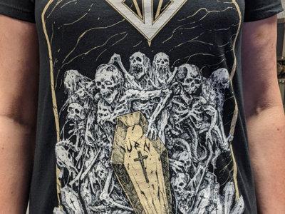 Urn T-Shirt black (white & gold print) main photo