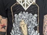 Urn T-Shirt black (white & gold print) photo