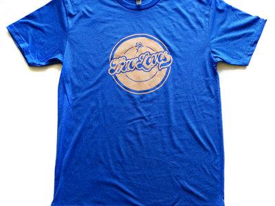 Men's / Unisex T-shirt - Blue w/ peach logo main photo