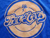 Men's / Unisex T-shirt - Blue w/ peach logo photo
