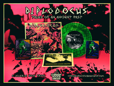 """Diplodocus - Tales of an Ancient Past - SCALY GREEN 7"""" main photo"""