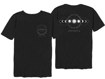 Apothica Moon Phases T-Shirt Front/Back (Black) main photo