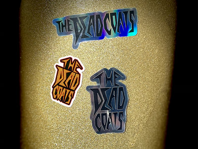 The Dead Coats Logo Stickers (Pack of 3) Includes Holographic, Metallic, and Graphic sticker main photo