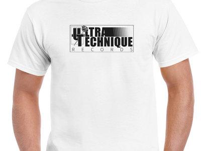 T-shirt Ultratechnique Records blanc main photo