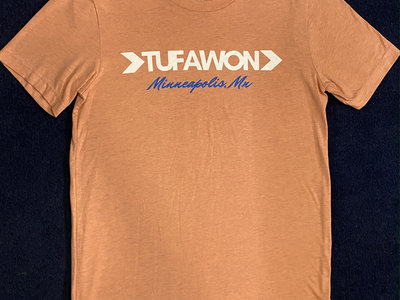 Tufawon T-shirt - Heather Prism Sunset / White logo / Blue Mpls main photo