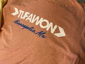 Tufawon T-shirt - Heather Prism Sunset / White logo / Blue Mpls photo