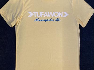 Tufawon / Minneapolis, MN T-shirt - yellow / white + blue logo main photo