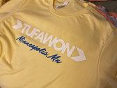 Tufawon / Minneapolis, MN T-shirt - yellow / white + blue logo photo