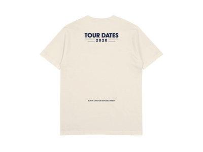 """Date Night """"No Tour Dates"""" Tee in cream main photo"""