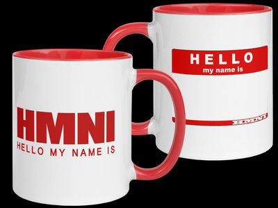 Hello My Name Is Coffee Mug with Red Color Inside main photo