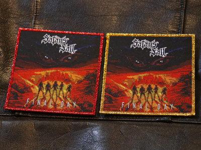 Final Day woven patch (metallic red & metallic yellow) main photo