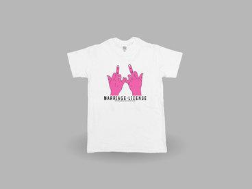 'Marriage License' Logo T-shirt main photo