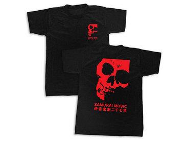 Samurai Music - Double Skull T-Shirt (Blood Red) main photo