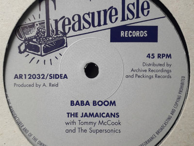 """The Jamaicans - Baba Boom/The Techniques - Travelling Man - Treasure Isle 12"""" Limited Pressing (Archive/Peckings) main photo"""