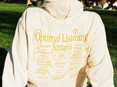 Optimal Listening Scenarios Hoodie (Natural) photo