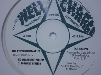 """The Revolutionaries - Channel One Disco Purpose 2 - Well Charge 12"""" (Channel One/Archive) main photo"""