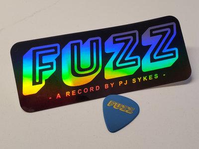 D'Addario FUZZ pick & Holographic Sticker main photo