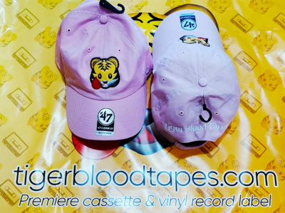 Tiger Blood Tapes x '47 Clean Up Pink Embroidered Strapback Hat main photo