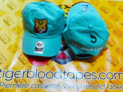 Tiger Blood Tapes x '47 Clean Up Mint Green Embroidered Strapback Hat About main photo