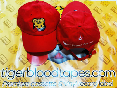 Tiger Blood Tapes x Lids Red Embroidered Strapback Hat About main photo