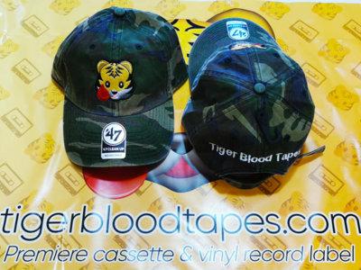 Tiger Blood Tapes x '47 Clean Up Camo Green Embroidered Strapback Hat About main photo