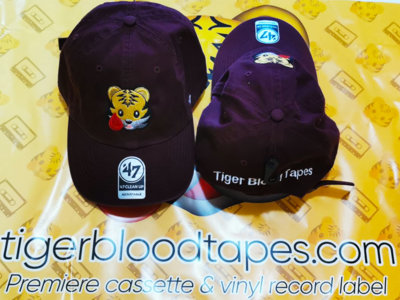 Tiger Blood Tapes x '47 Clean Up Burgundy Embroidered Strapback Hat About main photo