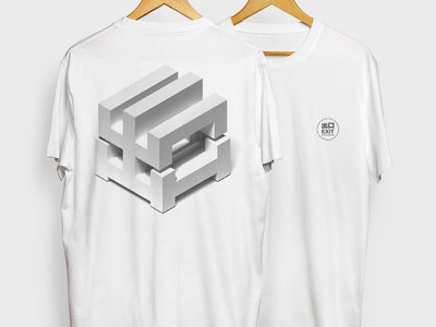 EXITLIMITEDTEE006 White - Cubed Logo main photo