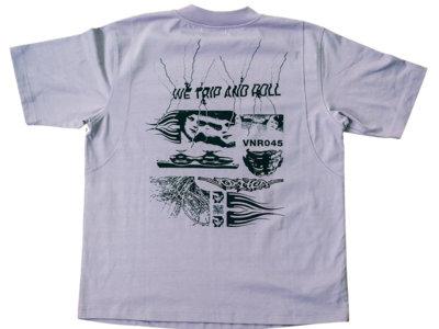 """We Trip And Roll"" T-Shirt (purple/black, unisex) main photo"